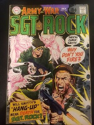 Our Army at War Featuring Sgt. Rock #221 (Marvel, Jul 1970), Grade 5.0
