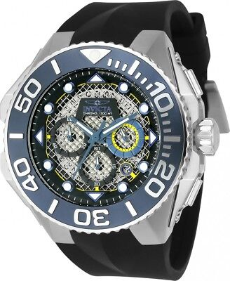 New Invicta 23959 Men's 'Coalition Forces' Chronograph Black Rubber Strap Watch