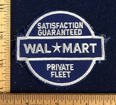 Vintage Walmart Private Fleet Driver Employee Uniform Patch