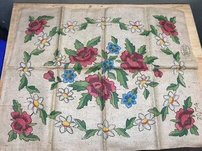"Vintage Primitive Rug Hooking Pattern ""Meadow Flowers"" by Dritz"