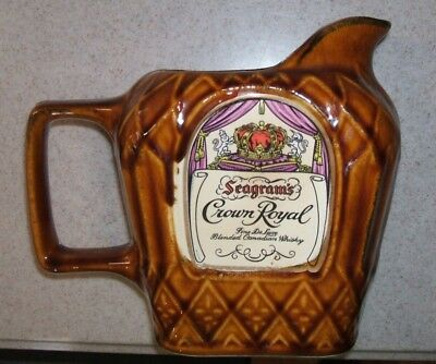 Seagram & Sons Limited Seagram's Crown Royal Ceramic Pitcher