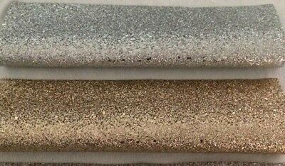 PU Leather - Faux Leatherette - Bow Making Fabric -Glitter designs 20cms x 30cms