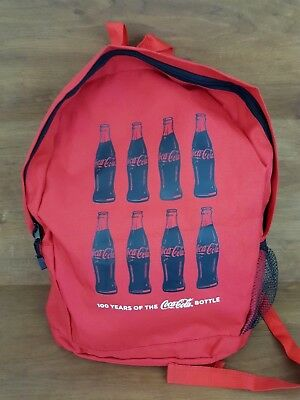 Coca Cola 100 Years Red Light Weight Backpack Tote