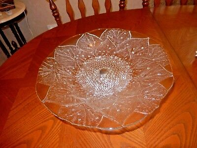 Very Pretty Large Glass Detachable Cake Stand / Serving Platter