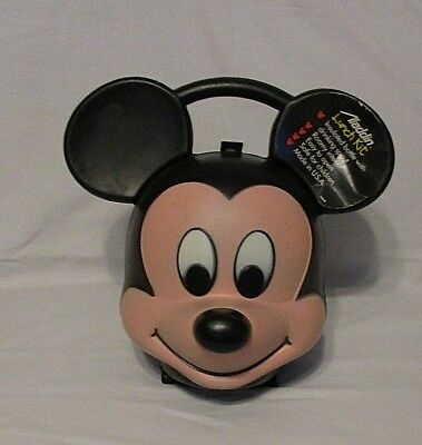 Vtg Aladdin Mickey Mouse Head Lunchbox - No Thermos