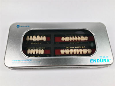 5-Box SHOFU ENDURA Dental Denture False Teeth Resin A2 M28 Shade 28pcs/Box Tooth