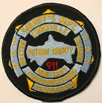 Cookeville Monterey Baxter Algood Putnam 911 Tennessee TN Police Sheriff Patch