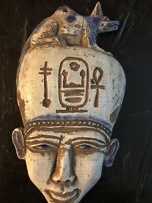 rare ancient egyptian Porcelain akhenaten Mask (1336 -1326 BC)