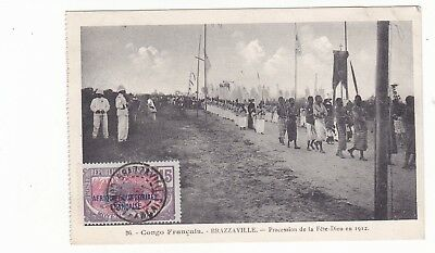 postcard of Procession from 1930s French Congo