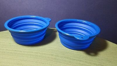 "Dog Bowl 7"" Collapsible 2 Pack Silicone 42oz BPA Free"