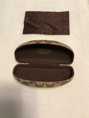 Coach Hardshell Glasses Case With Cloth