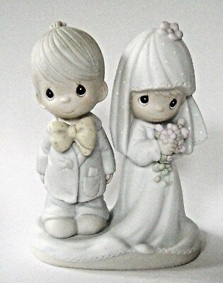 PRECIOUS MOMENTS THE LORD BLESS YOU AND KEEP YOU BRIDE/GROOM E-3114 G Clef Mark
