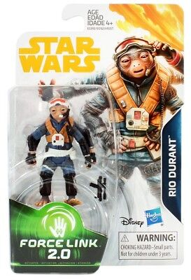 Star Wars Force Link 2.0 Rio Durant 3 3/4 Inch Action Figure MIB