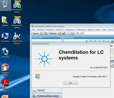 Agilent PC with HPLC 1100  1200 Chemstation  B04.03 + LAN card, Plug and Play