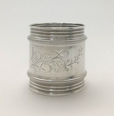 A Superb Victorian Aesthetic Large Engraved Sterling Silver Napkin Ring S172
