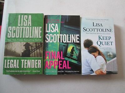 LISA SCOTTOLINE LOT OF 3 PAPERBACKS Legal Tender Final Appeal Keep Quiet
