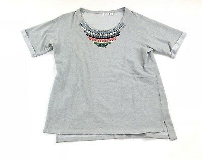 Cato Woman's Plus Size 18/20W Beaded Jeweled Short Sleeve Sweater Top Shirt