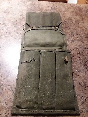 2 total Serbian 7.62mm Military Surplus Magazine Pouches lot of 2, 3 pouch mags