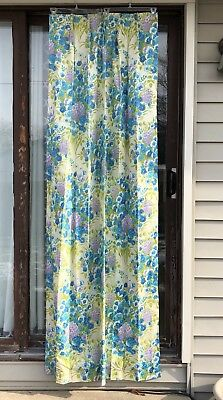 Vintage JC Penney Fashion Manor Bedroom Curtains Drapes 4 Panels