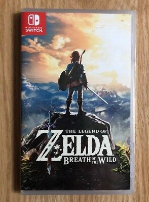 NEW Legend of Zelda: Breath of the Wild (Nintendo Switch) Special Ed. Cover Back