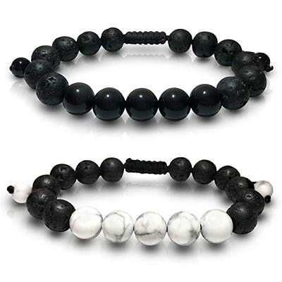 Buddha Stone Lava Rock Essential Oil Diffuser Adjustable Bracelet Protection Set