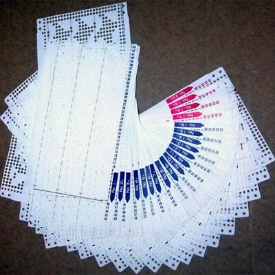 20pcs Punch Card Pattern For Brother Knitting Machine KH868 881 871 860 851 DT
