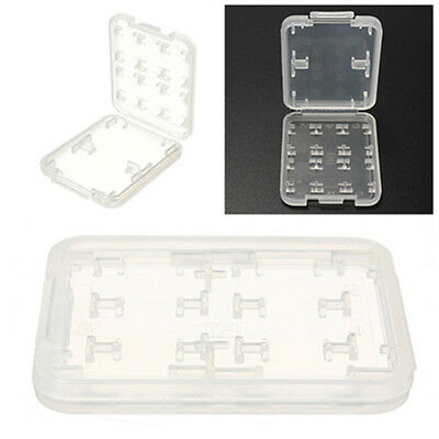 2Pcs Micro SD TF SDHC MSPD Memory Card Protecter Box Storage Case Holder Clear