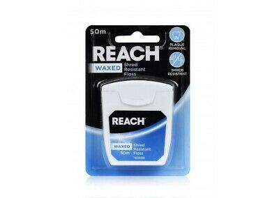 REACH Listerine Waxed Dental Floss 50m