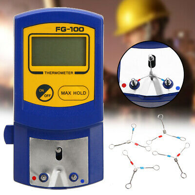 1Pcs FG-100 Soldering Iron Tip Thermometer Temperature Tester LCD Display 0-700℃