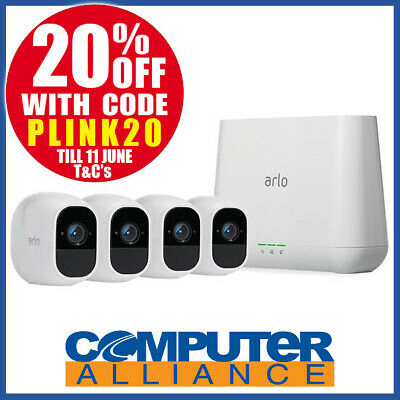 Netgear VMS4430-100AUS ARLO PRO Smart Home Security - 4 HD Camera Security Syste