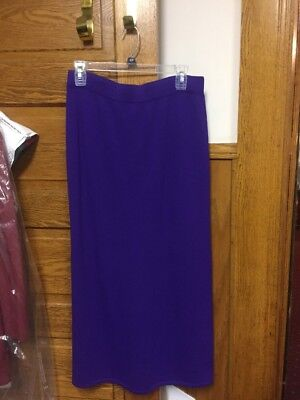St John Collection By Marie Gray Santana Knit Long Purple Skirt Size 10