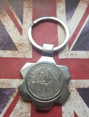 "Alphabet A-Z 10p-""M""Ten Pence Coins+Key Ring-Uncirculated-2018 ""M""-MACINTOSH"