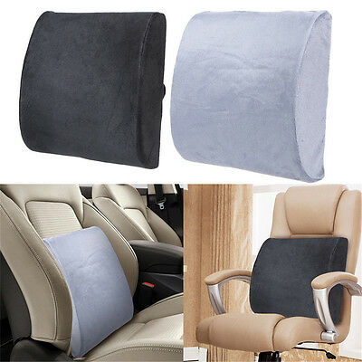 Memory Foam Lumbar Back Support Cushion Pillow Pad Home Office Car Seat Chair ~1
