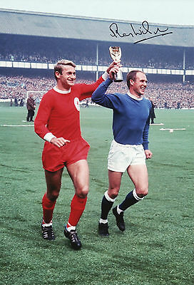 RAY WILSON Signed In Person 12x8 Photo EVERTON & 1966 WORLD CUP Legend Proof COA