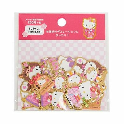 Sanrio Hello Kitty New Years Series Gold Foil Stickers 174751N