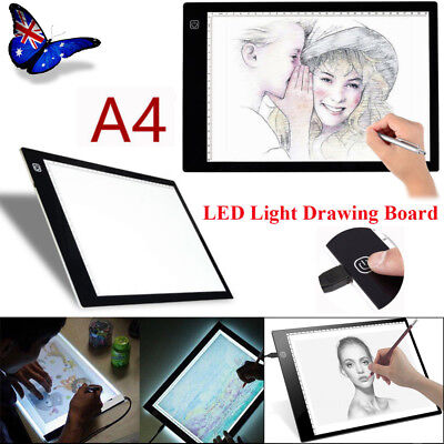 A4 LED Drawing Board Light Box Tracing Art Design Pad Copy Diamond Painting Box
