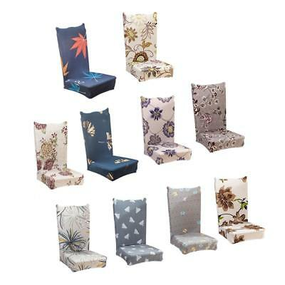 Removable Stretch Slipcovers Short Dining Room Chair Seat Cover Table Elastic