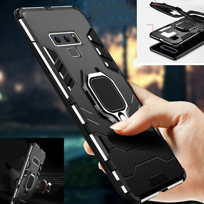 For Samsung Galaxy S20 Note 10 Plus A50 S10 Magnetic Ring Stand Armor Case Cover