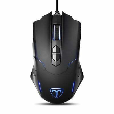 Ergonomic Optical Wired Gaming Mouse Backlight Programmable Button For PC Laptop
