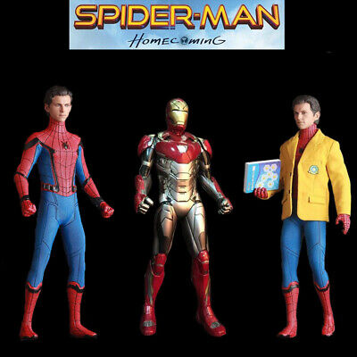 """Crazy Toys Marvel 12"""" Homecoming Spider Man Iron Man Action Figure Statue Model"""