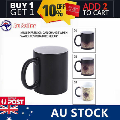 HOT! For Harry Potter Color Changing Mug For Marauders Map Ceramic Coffee Cup AU
