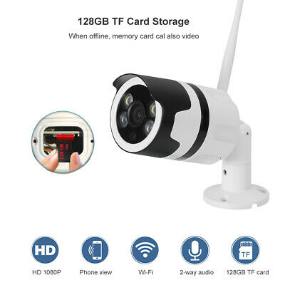 1080P Hd Telecamera Esterna Ip Camera Wireless Led Ir Lan Motorizzata Wifi Rete
