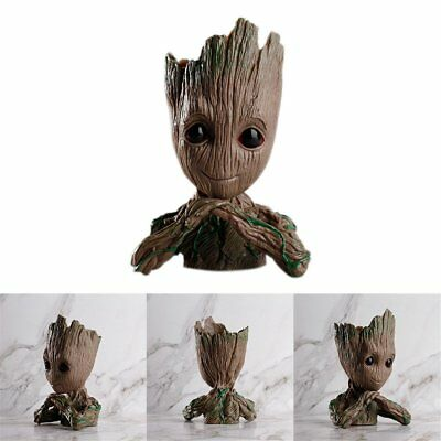 Guardians of The Galaxy Vol. 2 Baby Groot Action Figure Flowerpot Pen Pot Gift Q