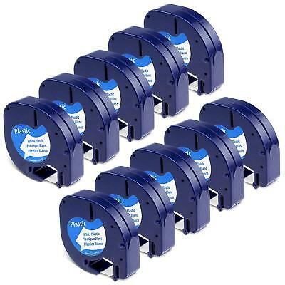 10PK LT 91331 Dymo Letratag Refill Compatible For Dymo Label Maker Tape 12mmX4m