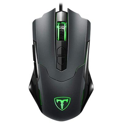 Ergonomic Optical Wired Gaming Mouse RGB Backlight Programmable Button 7200DPI