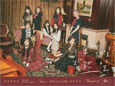 """K-PoP TWICE Album """"The Year of Yes"""" 1Photobook + 1CD A ver / Free Shipping"""