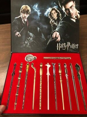 11pcs Harry Potter Hermione Dumbledore Snape Magic Wands With Box