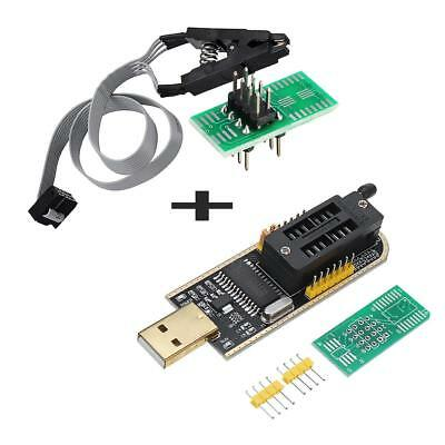 CH341A 24 25 Series EEPROM Flash BIOS USB Programmer + SOIC8 Clip On-Board Kit