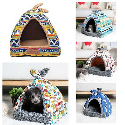 Pet Cat Puppy Dog Bed House Washable Carry Soft Cushion Kennel Pad Mat Winter
