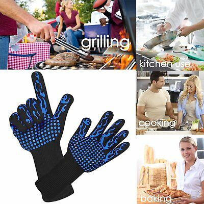 Extreme Heat Resistant Fireproof BBQ Gloves Grilling Cooking Gloves 500℃ 932℉